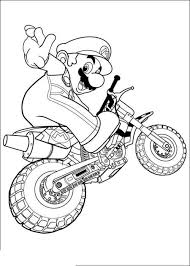 Mario Kart Coloring Pages Inside