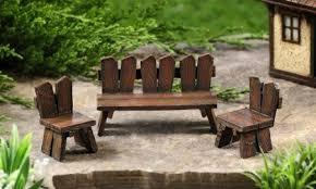 Get Quotations Miniature Enchanted Fairy Garden Decor Mini Tables Chair Set