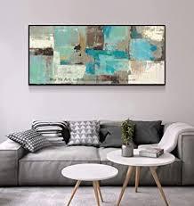n a artwork modern abstract picture leinwand malerei blau