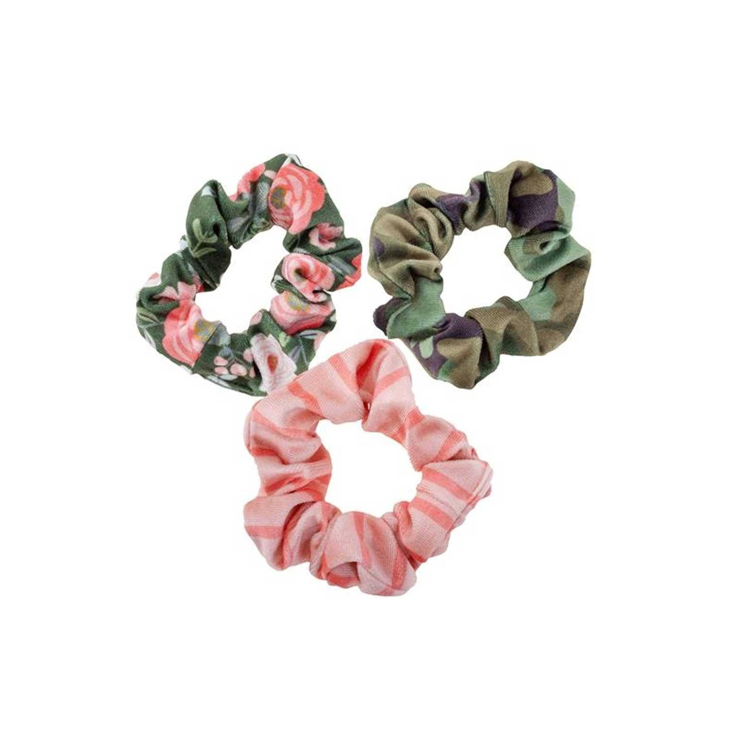 Karma Men's Hair Tie Pink & Green Scrunchie Set One-Size