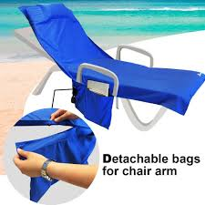 Terry Cloth Lounge Chair Covers With Pillow by Amazon Com Beach Chair Cover Chaise Lounge Chair Towel For Pool