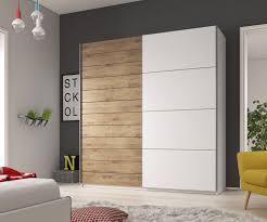 kleiderschrank 200cm weiß weiß eiche beaufort schlafzimmer modern schrank