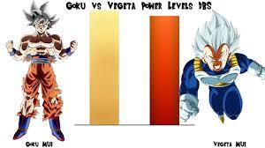 Goku MUI Vs Vegeta Power Levels