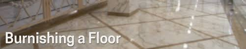 burnishing a floor