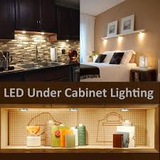 pack of 6 units led cabinet lighting kit 1020lm puck