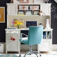 white desk with hutch foter