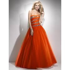 orange prom dresses orange prom dress ball gown strapless