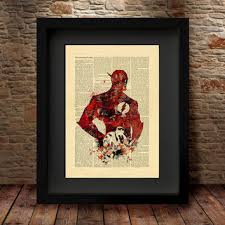 Vintage Superhero Wall Decor by Best Marvel Wall Art Products On Wanelo