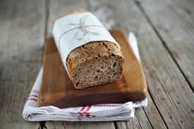 Download Rye Bread Loaf With Oats Wheat And Flax Seeds Sliced Stock Photo