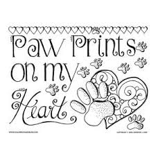 Paw Prints Valentine Quote Coloring PagesPrintable