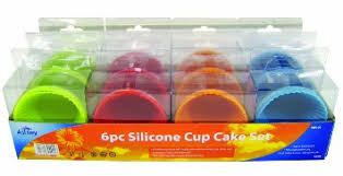 Buy 6 X Silicone Cup Fairy Cake Bun Muffin Bakeware Cases Red Blue