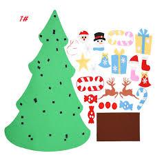 DIY Gift Felt Christmas Tree Set W Removable Ornament Xmas Hand