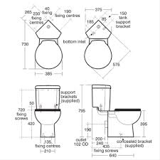 Bathroom Cad Blocks Plan by Space Close Coupled Wc Suite Close Coupled Wcs Bluebook