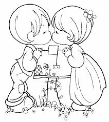 Love Coloring Pages Cute Couple
