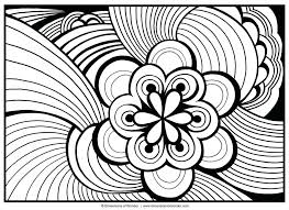 Coloring Pages Free Printable Realistic Flower Abstract Large Images To Print