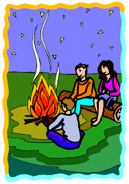 Camp Fire Clipart Family Camping 3