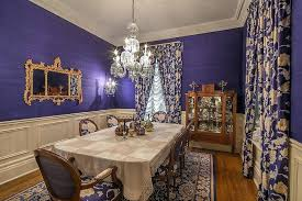 Victorian Dining Room Lavish In Purple And Gold From Photography House