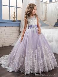 2017 princess white lilac flower girls u0027 dresses wedding