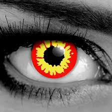 Cheap Prescription Halloween Contact Lenses by Gray Wolf Colormax Water Color Fx Contact Lenses Pair Vampfangs