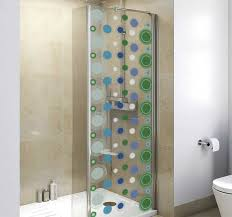 duschkabinen folie badezimmerfliesen kreise
