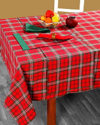nappe de table tartan prince edward noël homescapes