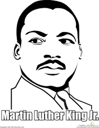First Grade Holidays Seasons Worksheets Martin Luther King Jr Coloring Page