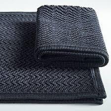 schwarzer vintage vorleger laüfer badezimmer vorleger