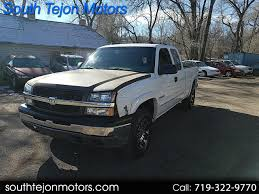 100 Trucks For Sale In Colorado Springs Used 2003 Chevrolet Silverado 1500 For In CO