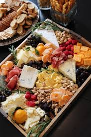 Look At This Amazing Rustic Cheese And Fruit Tray
