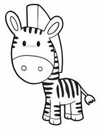 Cute Zebra Coloring Page