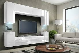 weiße möbel für wohnzimmer in hochglanz future 1