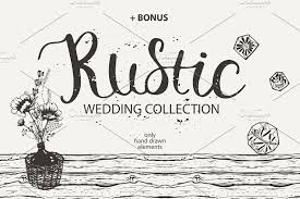 RUSTIC Wedding Collection Illustrations Creative Market