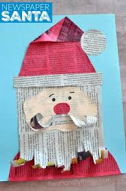This Adorable Newspaper Santa Claus Craft Makes A Great Christmas Kids