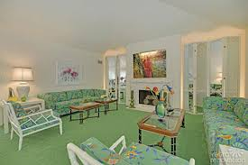 80s White And Green Living Room