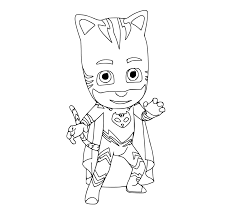 PJ Masks Coloring Pages Geko Cat Boys Colouring Page