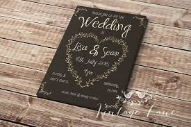 Day Invite Preview Front Black Rustic Vintage Lane Ireland Classy Personalised Wedding Invitations