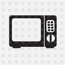 Microwave oven icon on transparent background Royalty Free Vector Clip Art