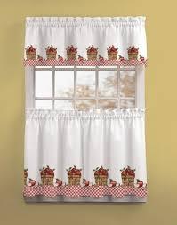 Brylane Home Kitchen Curtains by Elegant Strawberry Kitchen Curtains Taste