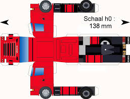 Free Download Paper Model Trucks | Scania-rood | Paper Toys | Paper ...