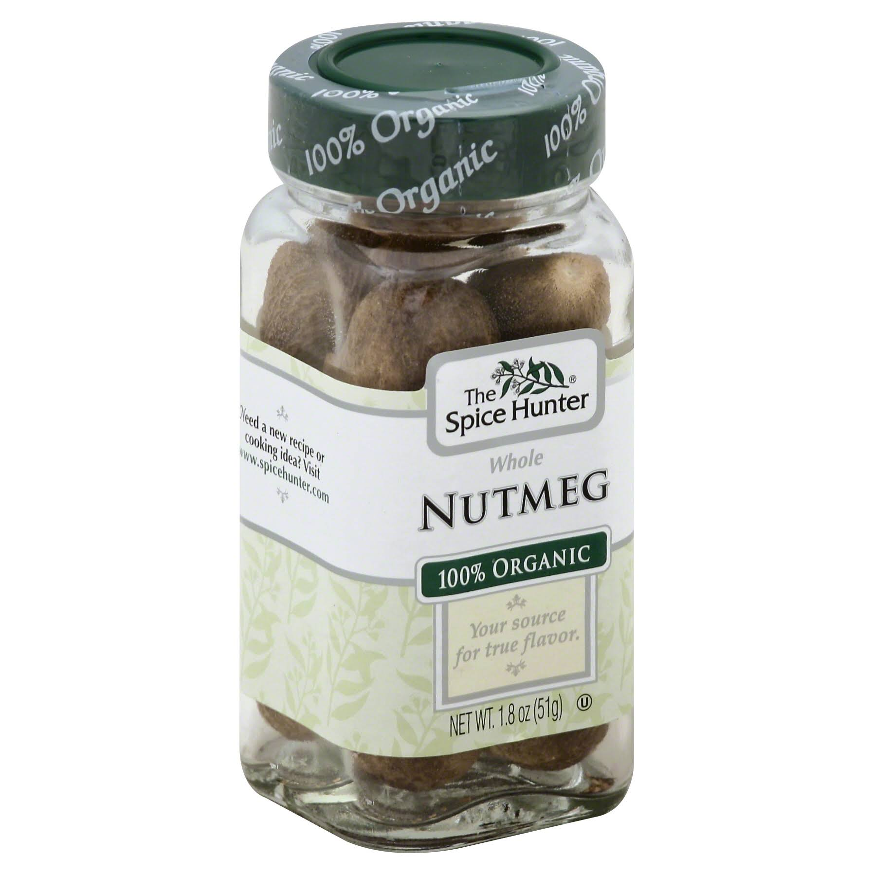 Spice Hunter Nutmeg, Whole, 100% Organic - 1.8 oz