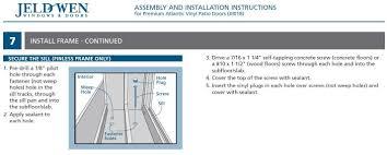 Jen Weld Patio Doors by Install Jeld Wen Sliding Door In Existing Opening Concrete Block