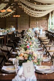 Naturally Chic Rustic Barn Wedding Table DecorationsWedding