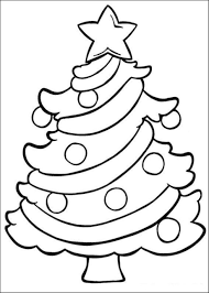 Coloring Pages Christmas Tree Easy Of Kids
