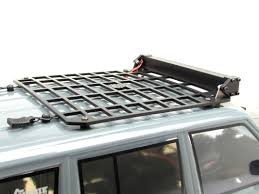 Gear Head RC 1/10 Scale Jeep XJ Slim Line Roof Rack With Light Bar Mount