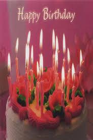 schöne geburtstagskarte happy birthday kuchen mit kerzen