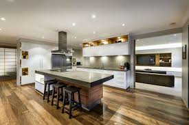 Kitchen Room2017 Breakfast Bar Island Wood Floor House In Burns Beach Perth Small