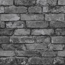 Brewster FD31284 Rustic Brick Wallpaper Silver Black Amazoncouk DIY Tools