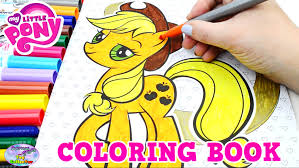 My Little Pony Coloring Book MLP Applejack Colors Episode Surprise Egg And Toy Collector SETC