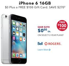 Best Buy VIP Sale iPhone 6 for $0 on Contract Plus $100 Gift Card