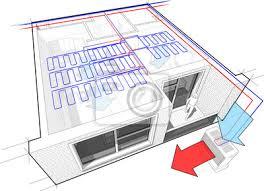 fototapete perspektive schnittdiagramm einer wohnung mit einem schlafzimmer